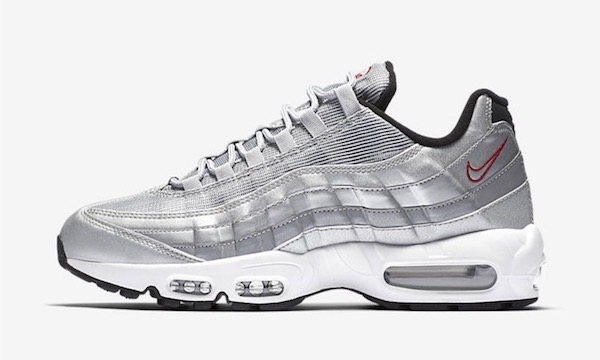 air max 95 grise rouge